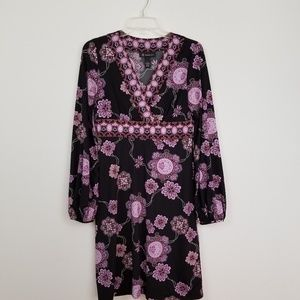 INC International concepts mock wrap floral dress